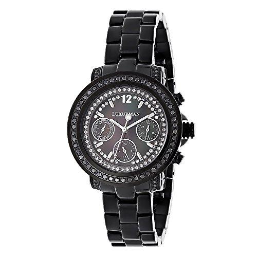 ラックスマン 腕時計 レディース 0640206973175 【送料無料】LUXURMAN Watches: Ladies Black Diamond Watch 2.15ctラックスマン 腕時計 レディース 0640206973175