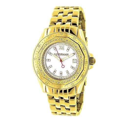 ラックスマン 腕時計 レディース Royale Womens Diamond Watch 0.25ct Yellow Gold LUXURMANラックスマン 腕時計 レディース Royale