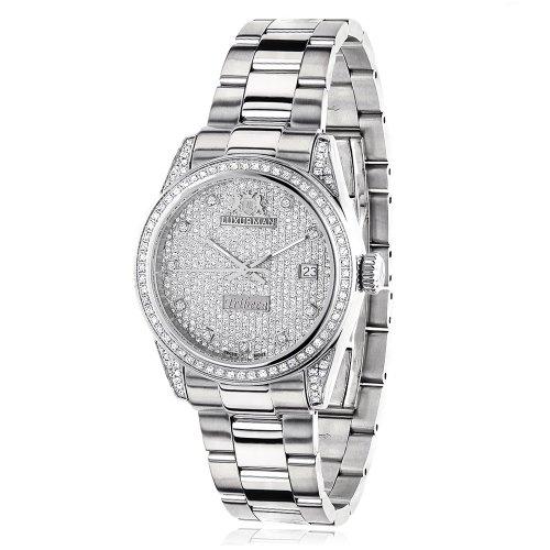 ラックスマン 腕時計 レディース 0640206974950 【送料無料】Iced Out LUXURMAN Women's Diamond Watch Tribeca 1.5ctラックスマン 腕時計 レディース 0640206974950