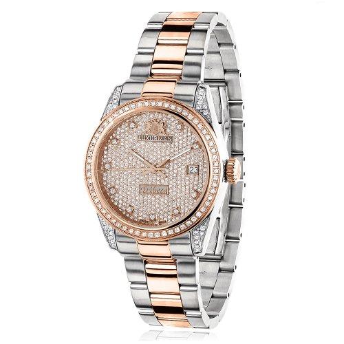 ラックスマン 腕時計 レディース 0640206974981 Two Tone Rose Gold Plated Women's Diamond Watch 1.5ct LUXURMAN Tribecaラックスマン 腕時計 レディース 0640206974981