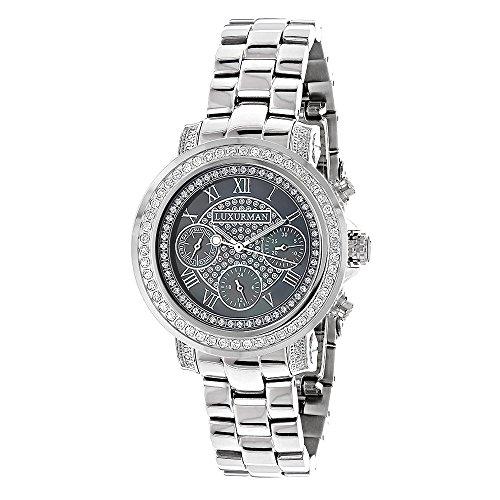 ラックスマン 腕時計 レディース Diamond Plated Platinum Watch 2ctw of Diamonds by Luxurmanラックスマン 腕時計 レディース