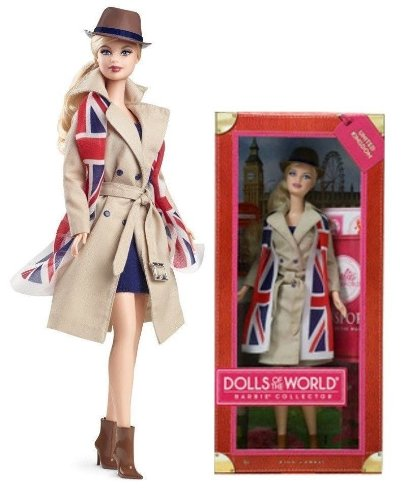 バービー バービー人形 ドールオブザワールド ドールズオブザワールド ワールドシリーズ 2012 Barbie Dolls of the World, United Kingdom / England / Britain Passport Pink Labバービー バービー人形 ドールオブザワールド ドールズオブザワールド ワールドシリーズ