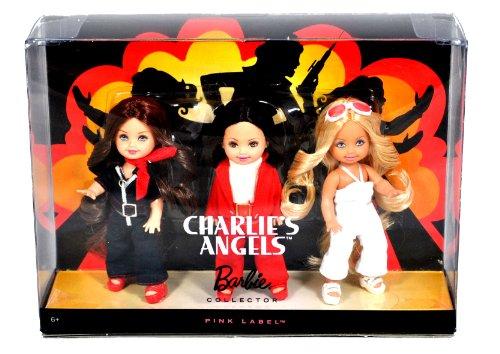 バービー バービー人形 チェルシー スキッパー ステイシー N6583 Mattel Year 2009 Barbie Pink Label Collector Series 3 Pack 4-1/2 Inch Doll Gift Set - Sabrina, Jill and Kelly as CHARLIE's ANGELバービー バービー人形 チェルシー スキッパー ステイシー N6583