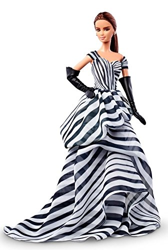 バービー バービー人形 バービーコレクター コレクタブルバービー プラチナレーベル DGW59 【送料無料】Black and White Collection Chiffon Ball Gown Barbie Doll - Plaバービー バービー人形 バービーコレクター コレクタブルバービー プラチナレーベル DGW59