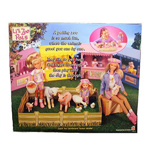 バービー バービー人形 チェルシー スキッパー ステイシー 19625 Barbie Li'l Zoo Pals Gift Set w Barbie, Kelly & Stacie Dolls (1998)バービー バービー人形 チェルシー スキッパー ステイシー 19625