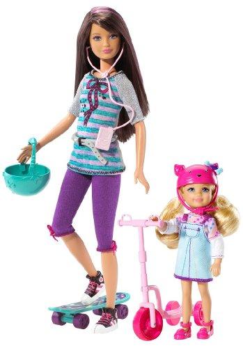 バービー バービー人形 チェルシー スキッパー ステイシー T7429 Barbie Sisters Skateboard! Skipper and Chelseaバービー バービー人形 チェルシー スキッパー ステイシー T7429