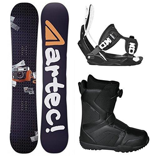 スノーボード ウィンタースポーツ フロウ 2017年モデル2018年モデル多数 Artec Alt Rocker Complete Snowboard Package with Flow Bindings and Flow BOA Boots - BOARD SIZE 162 (Boot Sz 12)スノーボード ウィンタースポーツ フロウ 2017年モデル2018年モデル多数