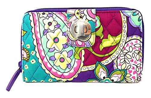 ヴェラブラッドリー ベラブラッドリー アメリカ 日本未発売 財布 14442-144 【送料無料】Vera Bradley Turnlock Wallet (Heather with Purple Interiors) (Multi)ヴェラブラッドリー ベラブラッドリー アメリカ 日本未発売 財布 14442-144