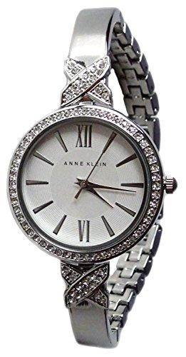 アンクライン 腕時計 レディース ANNE KLEIN Silvertone Mixed Metal and Swarovski Crystal Bracelet Watch AK/2577SVSVアンクライン 腕時計 レディース
