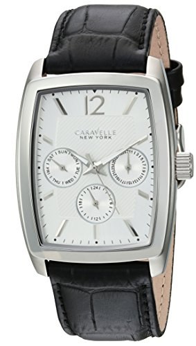 ブローバ 腕時計 メンズ 43C116 【送料無料】Caravelle New York Men's Stainless Steel Analog-Quartz Watch with Leather-Crocodile Strap, Black, 22 (Model: 43C116)ブローバ 腕時計 メンズ 43C116