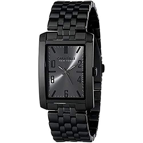 ブローバ 腕時計 メンズ 45A117 【送料無料】Caravelle New York by Bulova Men's 45A117 Analog Display Japanese Quartz Black Watchブローバ 腕時計 メンズ 45A117