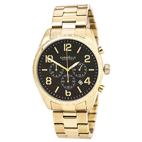 ブローバ 腕時計 メンズ 44B114 【送料無料】Caravelle New York Men's Quartz Watch with Stainless-Steel Strap, Gold, 22 (Model: 44B114)ブローバ 腕時計 メンズ 44B114