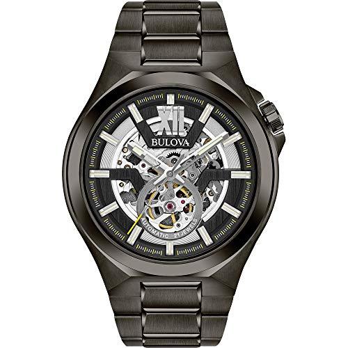 腕時計 ブローバ メンズ 98A179 【送料無料】Bulova Men's Automatic-self-Wind Watch with Stainless-Steel Strap, Grey, 27 (Model: 98A179)腕時計 ブローバ メンズ 98A179