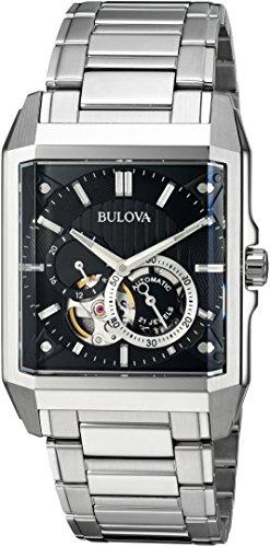 ブローバ 腕時計 メンズ 96A194 Bulova Men's Automatic-self-Wind Watch with Stainless-Steel Strap, Silver, 24 (Model: 96A194ブローバ 腕時計 メンズ 96A194