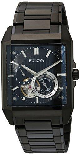 ブローバ 腕時計 メンズ 98A180 Bulova Men's Automatic Stainless Steel Casual Watch, Color:Black (Model: 98A180ブローバ 腕時計 メンズ 98A180