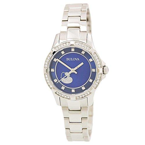 ブローバ 腕時計 レディース 【送料無料】Bulova 96L238 Women's Crystal Accented Bezel Blue MOP Dial Steel Bracelet Watchブローバ 腕時計 レディース