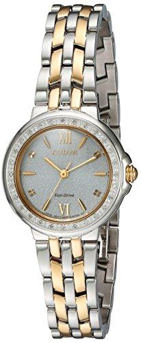 シチズン 逆輸入 海外モデル 海外限定 アメリカ直輸入 EM0444-56A 【送料無料】Citizen Women's 'Diamond' Quartz Stainless Steel Casual Watch, Color:Two Tone (Model: EM0444-56A)シチズン 逆輸入 海外モデル 海外限定 アメリカ直輸入 EM0444-56A