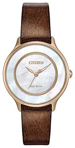 シチズン 逆輸入 海外モデル 海外限定 アメリカ直輸入 EM0383-08D Citizen Eco-Drive EM0383-08D Ladies Gold-Tone Mother-of-Pearl Watchシチズン 逆輸入 海外モデル 海外限定 アメリカ直輸入 EM0383-08D