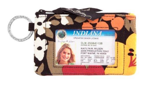 ヴェラブラッドリー パスケース IDケース 定期入れ ベラブラッドリー 【送料無料】Gorgeous Vera Bradley Zip ID Case in Bittersweetヴェラブラッドリー パスケース IDケース 定期入れ ベラブラッドリー