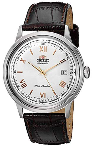 オリエント 腕時計 メンズ FAC00008W0 Orient Men's 2nd Gen. Bambino Ver. 2 Stainless Steel Japanese-Automatic Watch with Leather Strap, Brown, 21 (Model: FAC00008W0)オリエント 腕時計 メンズ FAC00008W0