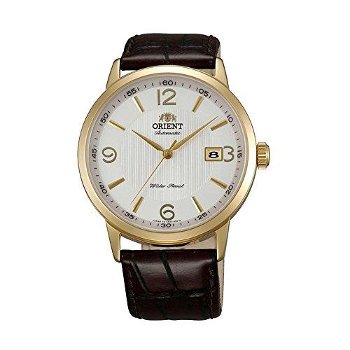 オリエント 腕時計 メンズ FER27004W0 Orient Men's Symphony 41mm Brown Leather Band Steel Case Automatic White Dial Analog Watch FER27004W0オリエント 腕時計 メンズ FER27004W0