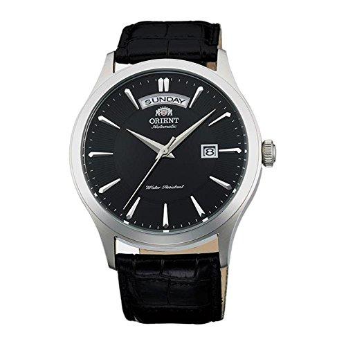 """オリエント 腕時計 メンズ FEV0V003BH 【送料無料】Orient Men""""s 41mm Black Leather Band Steel Case Automatic Analog Watch FEV0V003BHオリエント 腕時計 メンズ FEV0V003BH"""