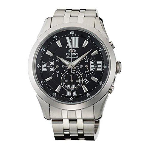 オリエント 腕時計 メンズ FTW04003B0 Orient Men's 44mm Steel Bracelet & Case Quartz Black Dial Analog Watch FTW04003B0オリエント 腕時計 メンズ FTW04003B0