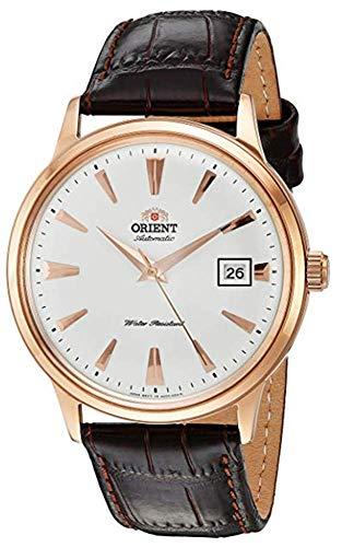 オリエント 腕時計 メンズ FAC00002W0 【送料無料】Orient Men's 2nd Gen. Bambino Ver. 1 Stainless Steel Japanese-Automatic Watch with Leather Strap, Brown, 21 (Model: FAC00002W0)オリエント 腕時計 メンズ FAC00002W0