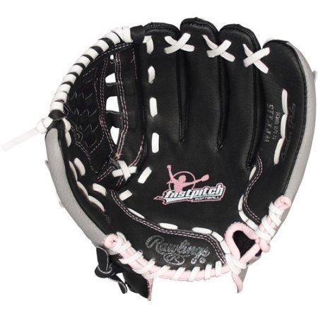 グローブ 内野手用ミット ローリングス 野球 ベースボール WALWFP115 【送料無料】Fast Pitch Leather Softball Mitt Black with Pink Trim Left Hand (11.5