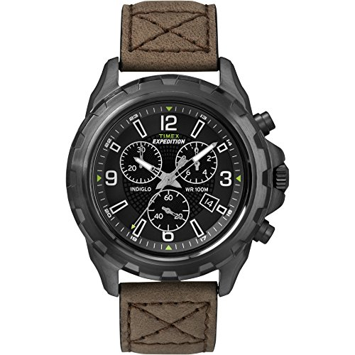 タイメックス 腕時計 メンズ T49986 Men's Outdoor Watch | Rugged Leather Strap Black Dial | Timex Expedition T49986タイメックス 腕時計 メンズ T49986