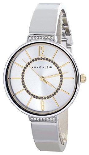 アンクライン 腕時計 レディース AK/2585SVTT 【送料無料】Anne Klein Silver Crystal Dial Bangle Bracelet Women's Quartz Watch AK/2585SVTTアンクライン 腕時計 レディース AK/2585SVTT