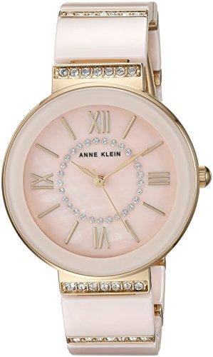 アンクライン 腕時計 レディース AK/2832LPGB Anne Klein Women's AK/2832LPGB Swarovski Crystal Accented Gold-Tone and Light Pink Ceramic Bracelet Watchアンクライン 腕時計 レディース AK/2832LPGB