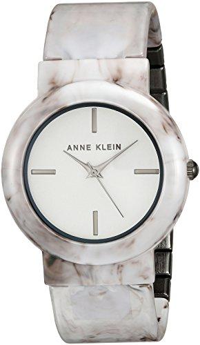 アンクライン 腕時計 レディース AK/2835WTGY Anne Klein Women's AK/2835WTGY Grey Marble Ceramic Bangle Watchアンクライン 腕時計 レディース AK/2835WTGY