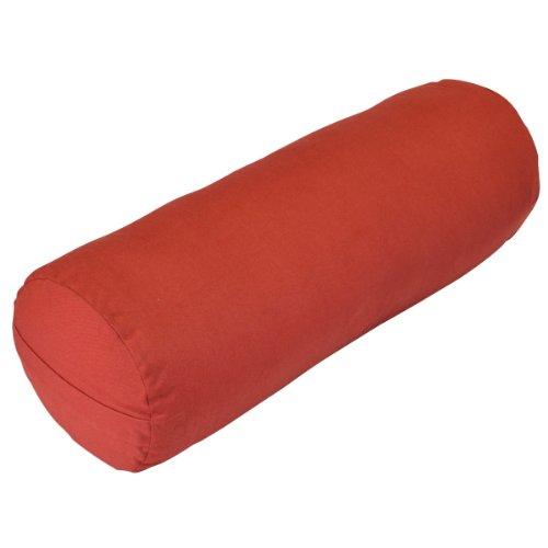 ヨガ フィットネス A242BOLMAR01 YogaDirect Supportive Round Cotton Yoga Bolster, Maroonヨガ フィットネス A242BOLMAR01