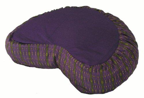 ヨガ フィットネス Boon Decor Meditation Cushion Crescent Zafu Pillow - Global Weave Purpleヨガ フィットネス