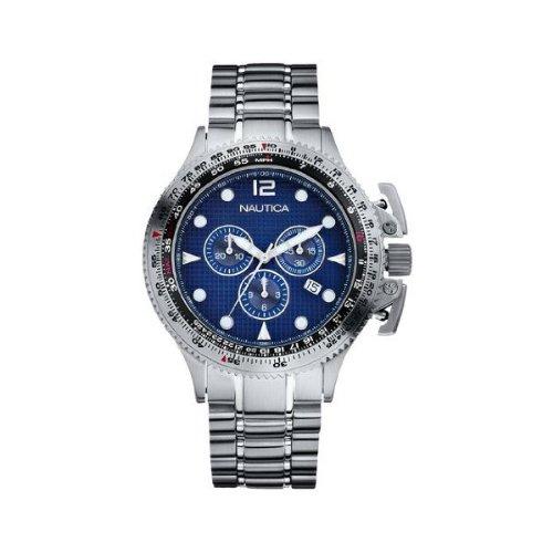 ノーティカ 腕時計 メンズ N26509G 【送料無料】Nautica Men's N26509G BFC II Stainless Steel Chronograph Watchノーティカ 腕時計 メンズ N26509G