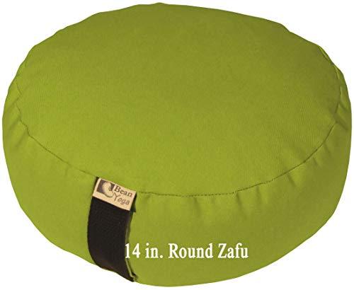 ヨガ フィットネス Bean Products Olive - Oval Zafu Meditation Cushion - Yoga - 10oz Cotton - Organic Buckwheat Fill - Made in USAヨガ フィットネス
