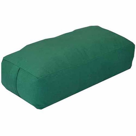 ヨガ フィットネス YogaDirect Supportive Rectangular Cotton Yoga Bolster (Green)ヨガ フィットネス