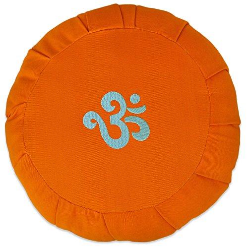 ヨガ フィットネス 【送料無料】YogaAccessories Round Cotton Zafu Meditation Cushion - 1 Color Ohm on Orangeヨガ フィットネス