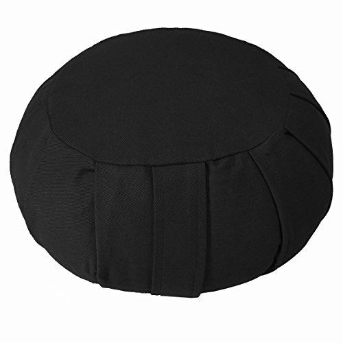 ヨガ フィットネス 【送料無料】YogaAccessories Round Cotton Zafu Meditation Cushion - Blackヨガ フィットネス