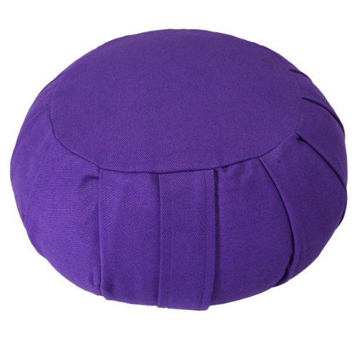 ヨガ フィットネス YogaAccessories Round Cotton Zafu Meditation Cushion - Purpleヨガ フィットネス