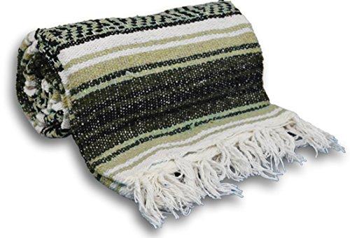 ヨガ フィットネス 【送料無料】YogaAccessories Traditional Mexican Yoga Blanket ( Light Brown)ヨガ フィットネス