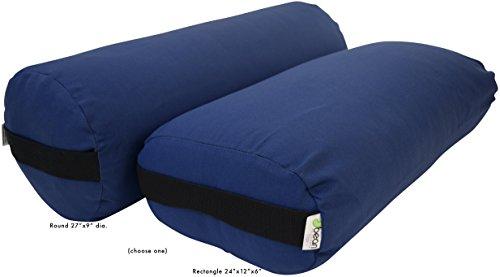 ヨガ フィットネス 400DMB Bean Products Yoga Bolster - Cotton Round - Medium Blueヨガ フィットネス 400DMB
