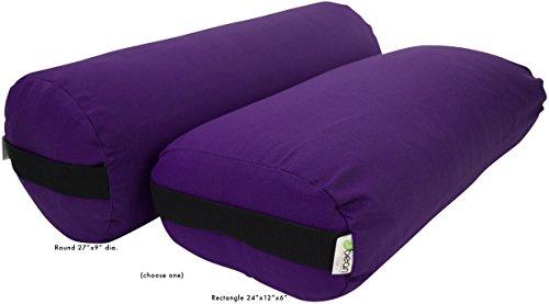 ヨガ フィットネス Bean Products Yoga Bolster - Cotton Round - Purpleヨガ フィットネス