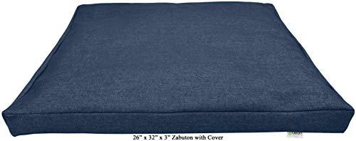 ヨガ フィットネス 【送料無料】Bean Products Denim - Zabuton Meditation Cushion & Cover - Standard Size - 24 x 24 x 2 - Yoga - 100% Cotton - Made in USAヨガ フィットネス