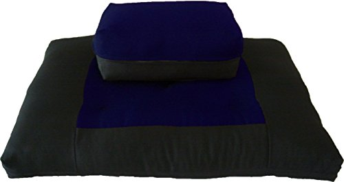 ヨガ フィットネス 【送料無料】D&D Futon Furniture Zabuton Zafu Set, Yoga, Meditation Seat Cushions, Kneeling, Sitting, Supporting Exercise Pratice Zabuton & Zafu Cushions. (Navy)ヨガ フィットネス