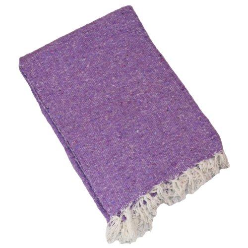 ヨガ フィットネス YogaAccessories Solid Color Mexican Yoga Blanket - Lavenderヨガ フィットネス