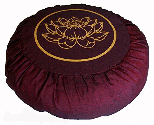 ヨガ フィットネス 【送料無料】Boon Decor Meditation Cushion Zafu Lotus Enlightenment Burgundyヨガ フィットネス