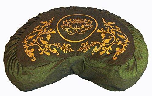 ヨガ フィットネス Boon Decor Meditation Cushion Zafu Lotus Enlightenment Sacred Symbol (Crescent Green)ヨガ フィットネス