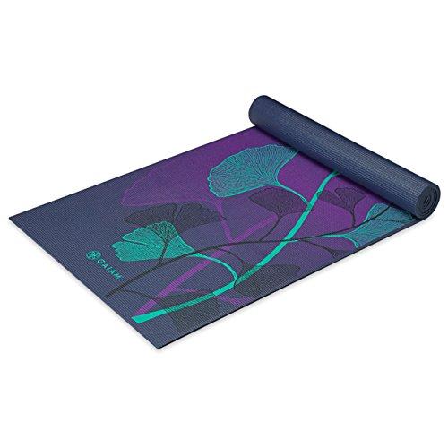 ヨガマット フィットネス 05-62433 Gaiam Yoga Mat Premium Print Extra Thick Non Slip Exercise & Fitness Mat for All Types of Yoga, Pilates & Floor Exercises, Lily Shadows, 5/6mmヨガマット フィットネス 05-62433